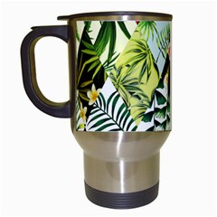 Flamingo Ropical Travel Mugs (white)
