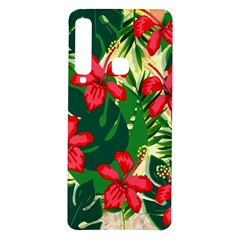 Floral Pink Flowers Samsung Galaxy A9 Tpu Uv Case by Mariart