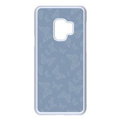 Faded Blue Butterfly Print Samsung Galaxy S9 Seamless Case(white) by SpinnyChairDesigns
