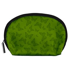 Avocado Green Butterfly Print Accessory Pouch (large)
