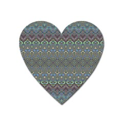 Boho Sweetheart Pattern Heart Magnet by SpinnyChairDesigns