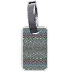 Boho Sweetheart Pattern Luggage Tag (two Sides) by SpinnyChairDesigns