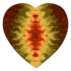 Red Gold Tie Dye Jigsaw Puzzle (heart)