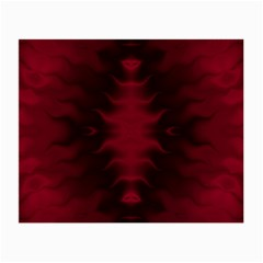 Black Red Tie Dye Pattern Small Glasses Cloth by SpinnyChairDesigns