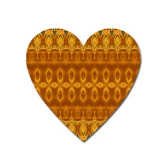 Boho Honey Gold Heart Magnet by SpinnyChairDesigns