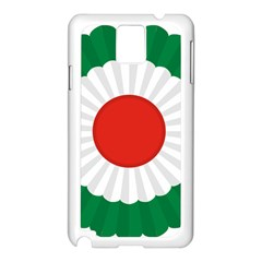 National Cockade Of Iran  Samsung Galaxy Note 3 N9005 Case (white) by abbeyz71