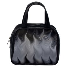 Abstract Black Grey Classic Handbag (one Side)