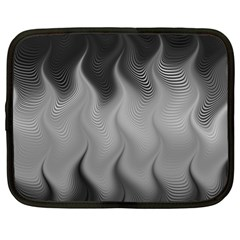 Abstract Black Grey Netbook Case (xl) by SpinnyChairDesigns