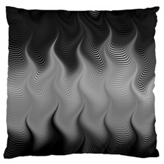 Abstract Black Grey Standard Flano Cushion Case (one Side) by SpinnyChairDesigns