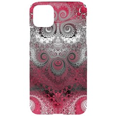 Black Pink Spirals And Swirls Iphone 11 Pro Max Black Uv Print Case by SpinnyChairDesigns
