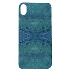 Teal Spirals And Swirls Apple Iphone Xr Tpu Uv Case