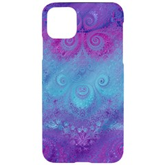 Purple Blue Swirls And Spirals Iphone 11 Pro Max Black Uv Print Case by SpinnyChairDesigns