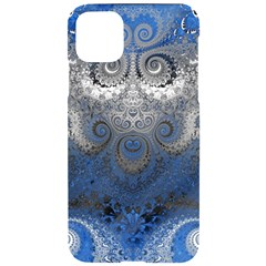 Blue Swirls And Spirals Iphone 11 Pro Max Black Uv Print Case by SpinnyChairDesigns