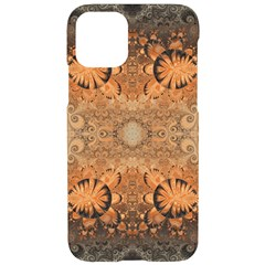 Rustic Orange Swirls Iphone 11 Pro Black Uv Print Case by SpinnyChairDesigns