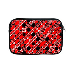 Abstract Red Black Checkered Apple Ipad Mini Zipper Cases by SpinnyChairDesigns