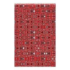 Abstract Red Black Checkered Shower Curtain 48  X 72  (small)
