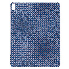 Artsy Blue Checkered Apple Ipad Pro 12 9   Black Uv Print Case by SpinnyChairDesigns