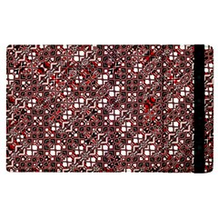 Abstract Red Black Checkered Apple Ipad Pro 9 7   Flip Case by SpinnyChairDesigns