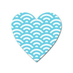 Waves Heart Magnet by Sobalvarro