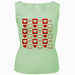 Hearts  Women s Green Tank Top by Sobalvarro