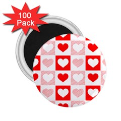 Hearts  2 25  Magnets (100 Pack)  by Sobalvarro