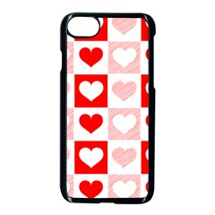 Hearts  Iphone 8 Seamless Case (black) by Sobalvarro
