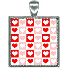 Hearts  Square Necklace by Sobalvarro