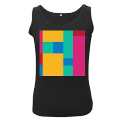 Squares  Women s Black Tank Top by Sobalvarro