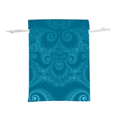 Cerulean Blue Spirals Lightweight Drawstring Pouch (s) by SpinnyChairDesigns