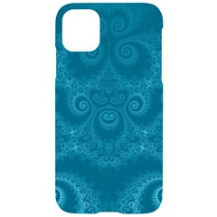 Cerulean Blue Spirals Iphone 11 Black Uv Print Case by SpinnyChairDesigns