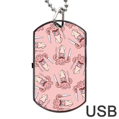 Squid Chef Pattern Dog Tag Usb Flash (one Side)