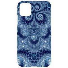 Royal Blue Swirls Iphone 11 Black Uv Print Case by SpinnyChairDesigns
