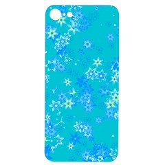 Aqua Blue Floral Print Iphone 7/8 Soft Bumper Uv Case by SpinnyChairDesigns