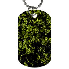 Nature Dark Camo Print Dog Tag (two Sides)