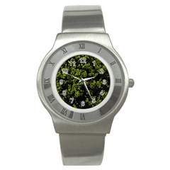 Nature Dark Camo Print Stainless Steel Watch
