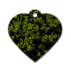 Nature Dark Camo Print Dog Tag Heart (two Sides)