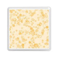 Yellow Flowers Floral Print Memory Card Reader (square) by SpinnyChairDesigns