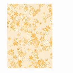 Yellow Flowers Floral Print Large Garden Flag (two Sides) by SpinnyChairDesigns