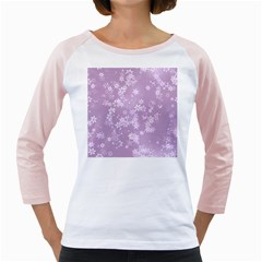 Lavender And White Flowers Girly Raglan by SpinnyChairDesigns