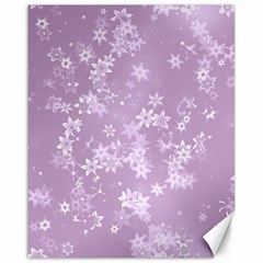 Lavender And White Flowers Canvas 16  X 20  by SpinnyChairDesigns