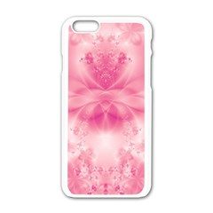 Pink Floral Pattern Iphone 6/6s White Enamel Case by SpinnyChairDesigns