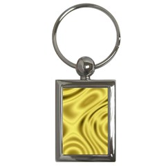 Golden Wave  Key Chain (rectangle) by Sabelacarlos