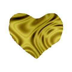 Golden Wave  Standard 16  Premium Heart Shape Cushions by Sabelacarlos