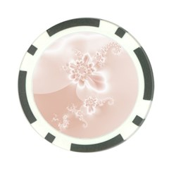 Tan White Floral Print Poker Chip Card Guard (10 Pack) by SpinnyChairDesigns