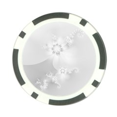 Wedding White Floral Print Poker Chip Card Guard