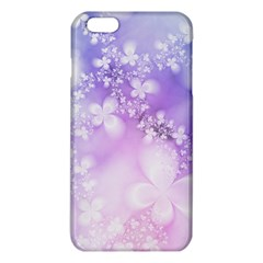 White Purple Floral Print Iphone 6 Plus/6s Plus Tpu Case by SpinnyChairDesigns