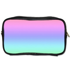 Pastel Rainbow Ombre Gradient Toiletries Bag (one Side) by SpinnyChairDesigns