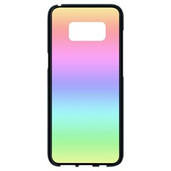 Pastel Rainbow Ombre Gradient Samsung Galaxy S8 Black Seamless Case by SpinnyChairDesigns