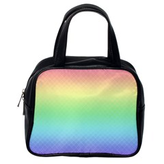 Pastel Rainbow Diamond Pattern Classic Handbag (one Side) by SpinnyChairDesigns