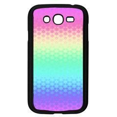 Rainbow Floral Ombre Print Samsung Galaxy Grand Duos I9082 Case (black)